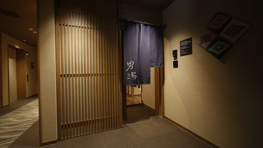 ◆男性大浴場入口 13階 営業時間:15時~翌10時