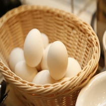 ◆朝食:ゆで卵
