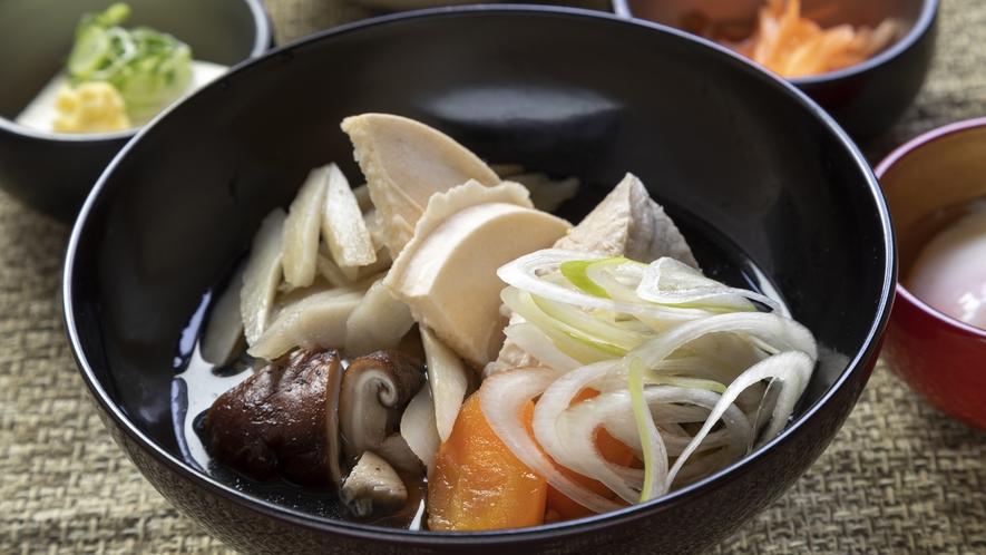 ◆朝食 青森の郷土料理「せんべい汁」(イメージ)