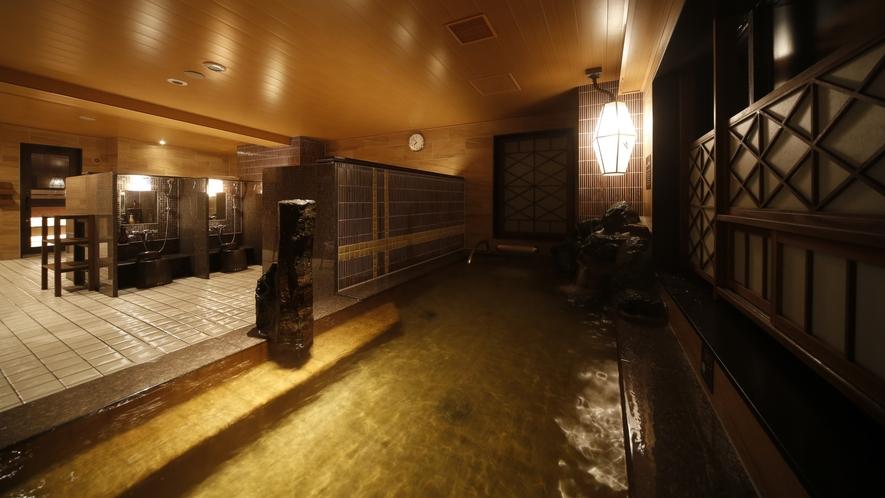 ◆女性大浴場≪天然温泉南部の湯≫ 内湯(湯温:40~41℃)