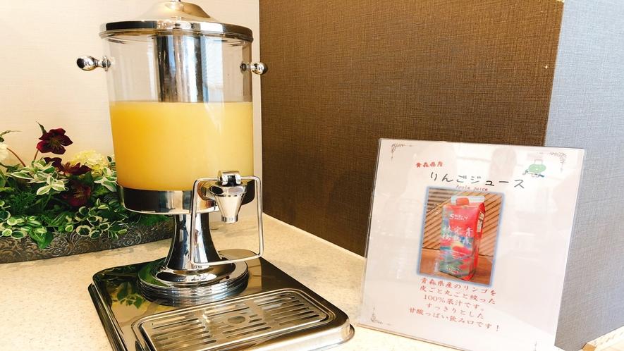 ◆朝食:りんごジュース 青森県産りんご100%果汁のジュースです♪