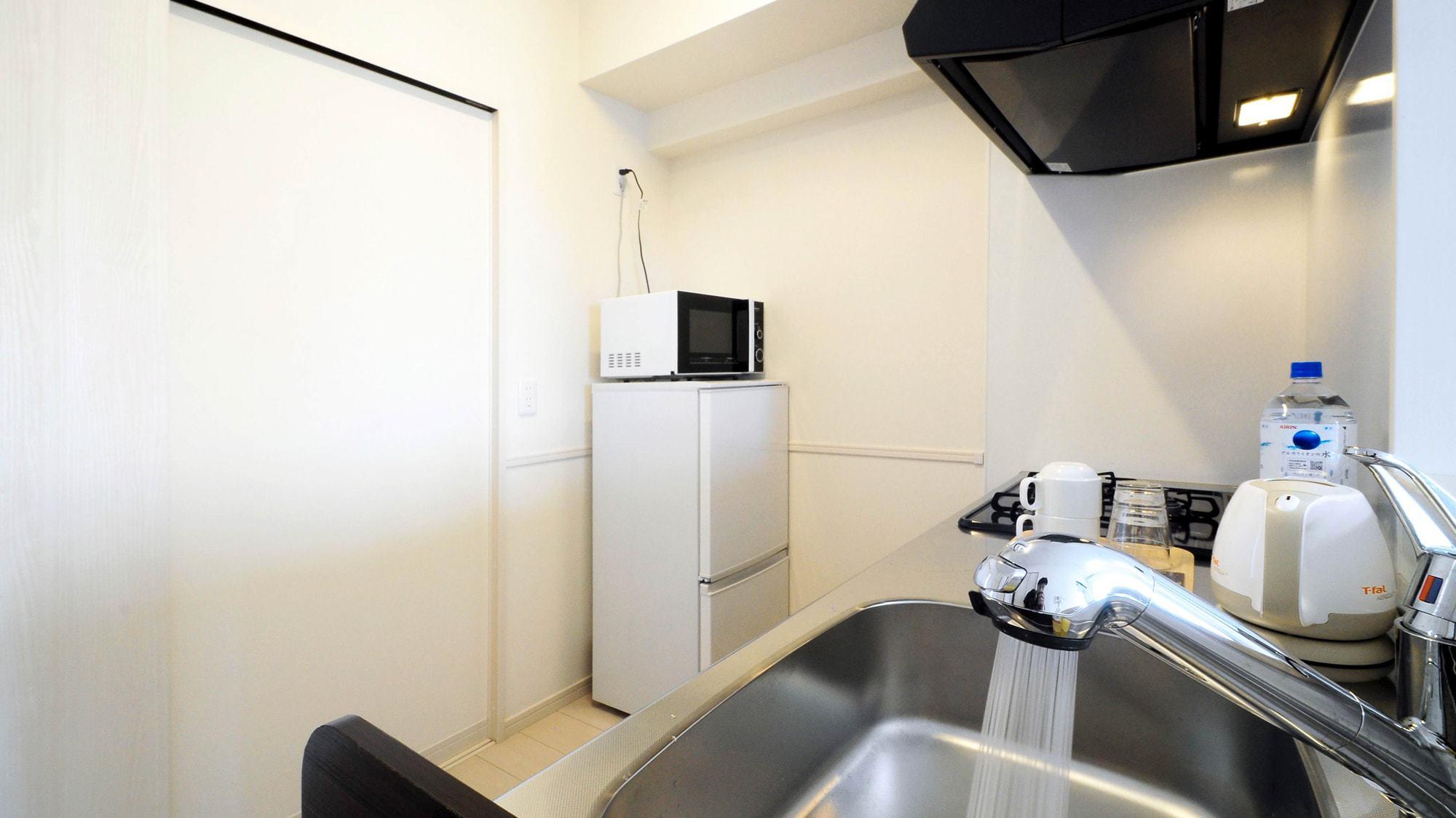 【客室1LDK・2LDK】機能性の良いキッチン