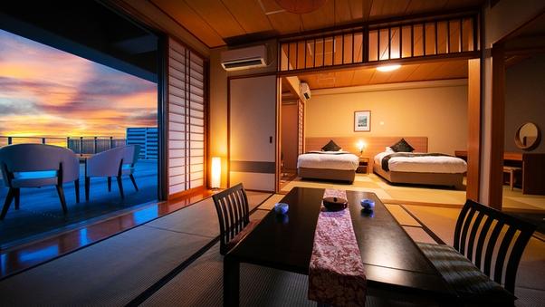 ■太平洋ビュー◇和洋室■6〜8帖+ツインベッド+広縁+テラス
