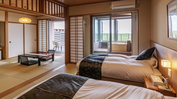 ■太平洋ビュー◇温泉檜風呂付和洋室■+テラス