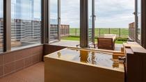 【太平洋ビュー◇ヒノキ露天風呂付和洋室】窓の外には太平洋。大自然のパノラマを湯船から見る贅沢・・・♪