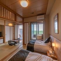 【太平洋ビュー◇ヒノキ露天風呂付和洋室】