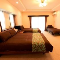 【Scallop(D)】|広々3ベッドルーム♪(ダブルベッド2・シングルベッド1のお部屋)