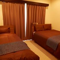 【Scallop(D)】|広々3ベッドルーム♪(ダブルベッド1シングルベッド1のお部屋)