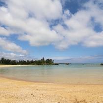 ホタテビーチ|青い海、白い砂浜♪恩名村の海を満喫してください!