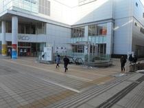 仙台駅2階西口 2-8 出口 から 仙台パルコ
