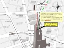 JR仙台駅からホテルJALシティ仙台まで