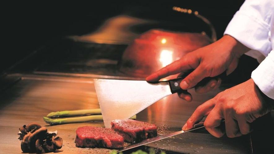 鉄板焼『佐賀竹彩』/シェフが目の前で調理いたします※イメージ