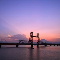 筑後川昇開橋/当館から車で約30分
