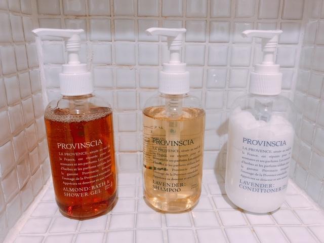 Provinscia Shower Gel/Shampoo/Conditioner
