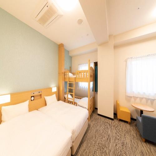 ■ファミリールームA/ベッド幅100cm/二段ベッド85cm■