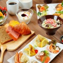 自由に選べる豊富なバイキング朝食♪