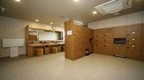 ◆脱衣所ロッカー ロッカーは男27個&女24個設置
