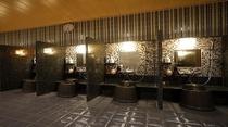 ◆大浴場洗い場 カラン_男10個&女8個設置