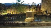 ◆男性露天風呂(夕方)② 外の空気に触れながらリフレッシュ♪