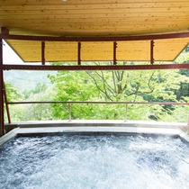 ◆◇石づくりのお風呂・露天ジャグジー※別途ご入浴料を頂いております。
