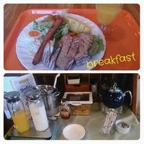 朝食 天然酵母パンのサンド