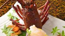 *別注文用・伊勢海老造り。記念日旅行等で、食事に彩を加えるためご注文されるお客様も。