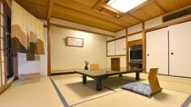"""*露天付き客室では、歴史ある源泉""""清左衛門湯""""の天然温泉をご自分のお部屋で楽しめます。"""