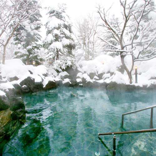 【冬】雪見の五色温泉露天岩風呂