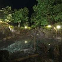 夜の五色温泉露天岩風呂(イメージ)