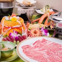 *スタンダード会席料理一例/美しい飾り彫りが華やかな、料理長渾身の会席料理。