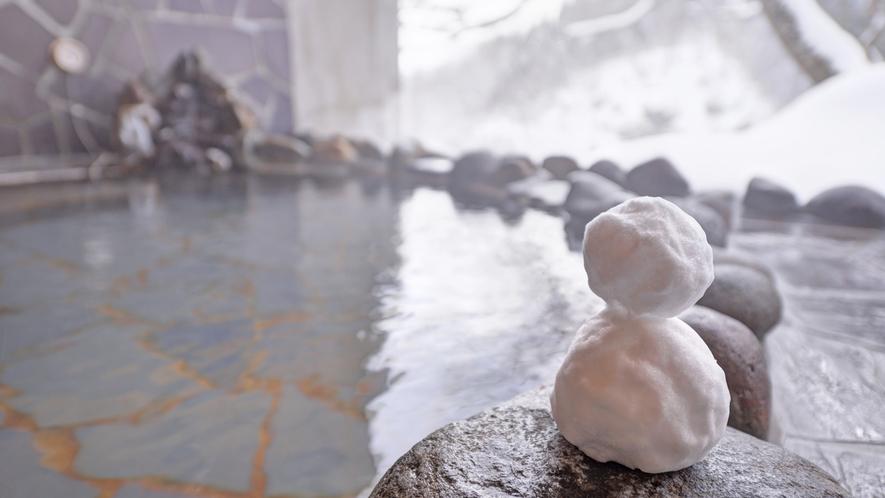 *貸切露天風呂/目の前に広がる銀世界♪冬は雪見露天をお楽しみください。