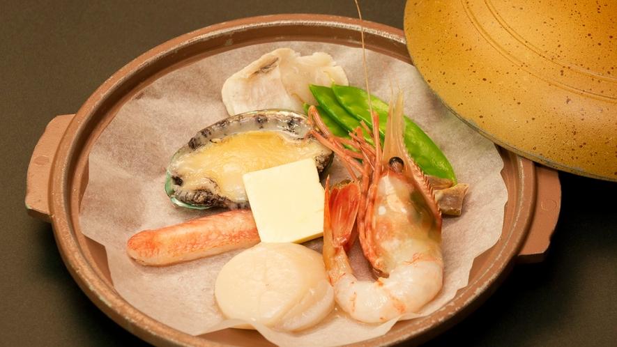 *~選べるメイン 海鮮陶板焼き(鮑入り)~
