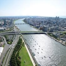 萬代橋側昼間の眺望