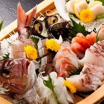 日本海幸満載の舟盛