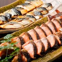 こだわりの朝食「焼き魚」