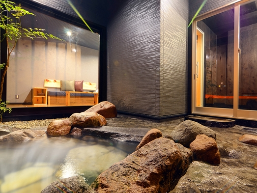 新築離れオープン記念価格【和器-waki-】源泉かけ流し露天岩風呂&内湯付き 泊食分離 禁煙室