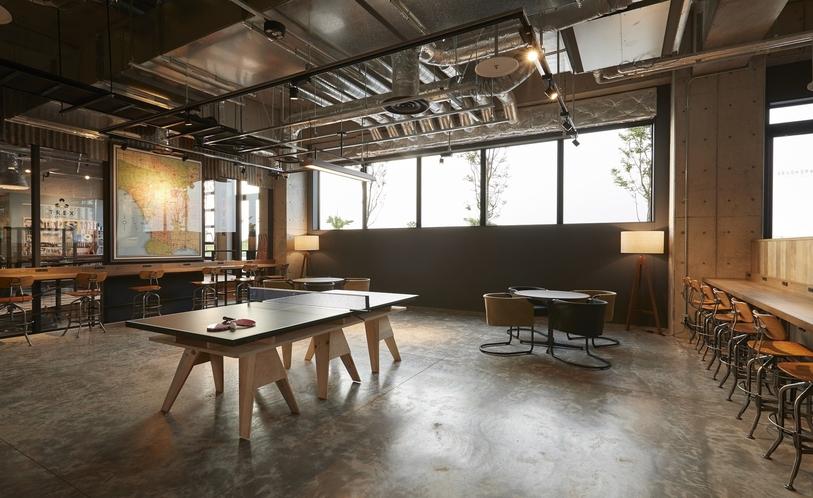 1階ロビー 卓球台