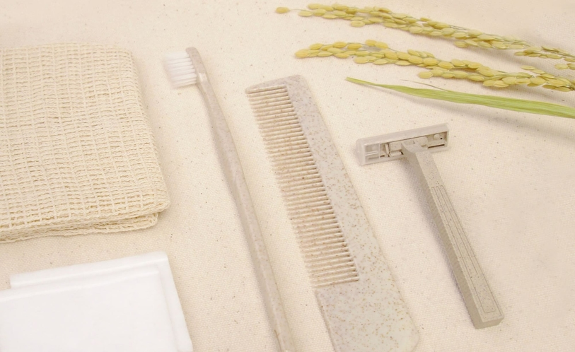 籾殻とバイオマスを原料としたアメニティ