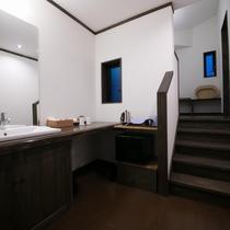 客室「椿」洗面所
