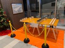 冬季限定でスキー・スノーボードのメンテナンス(ワックス)コーナーを1階エントランスに設置しました。