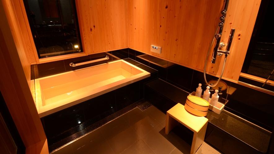 **【さくら:内湯(一例)】保温効果も高い木曽檜を使用しております