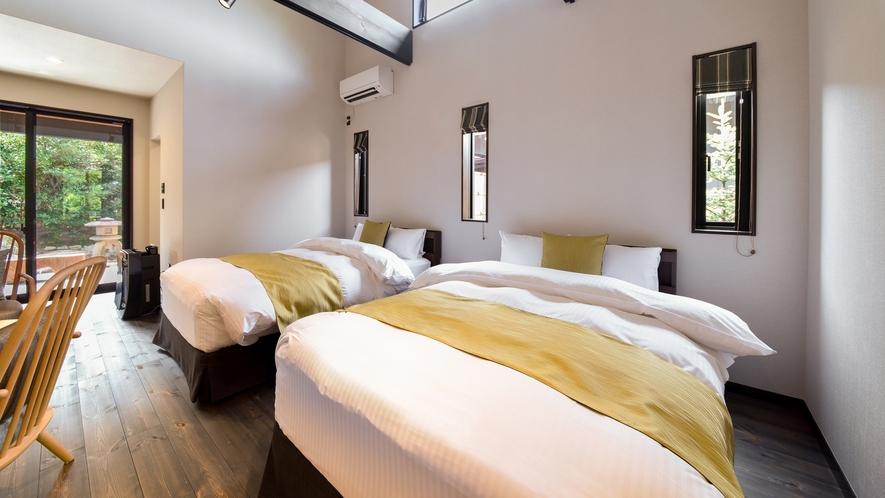 **【部屋・洋室(さくら)】シモンズ社のベッドで深い眠りを