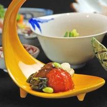 *【ご夕食:前菜(一例)】奇をてらわず、美しく、確かな味わい