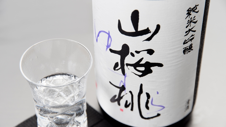 **【日本酒(ゆすら)】当館の屋号に合わせたお酒もご用意しております