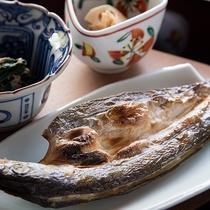 *【朝食(焼き魚)】旬のお魚を、焦げ目も美味しい焼き魚でご提供