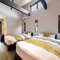 *【部屋・洋室(さくら)】シモンズ社のベッドで深い眠りを