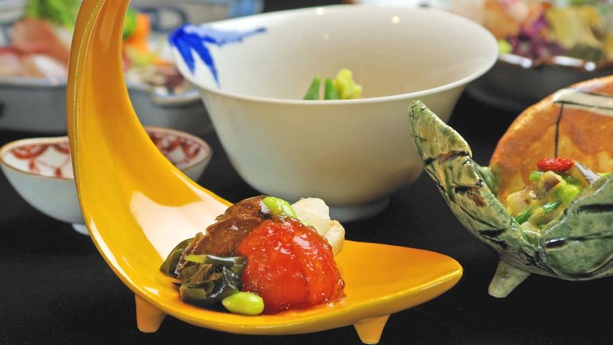 **【ご夕食:前菜(一例)】奇をてらわず、美しく、確かな味わい