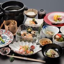 *【夕食(ゆすら会席)】地産食材を中心に旬の味をお召し上がりください