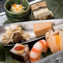 *【夕食(前菜)】地産食材も取り入れた前菜