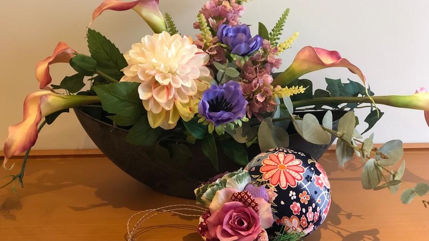 フロント 季節花